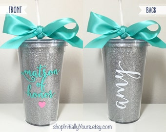 Personalized Matron of Honor Tumbler, Will You Be My Matron of Honor, Matron of Honor Proposal, Matron of Honor Gift