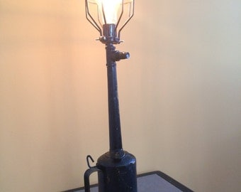 antique oil can steampunk lamp