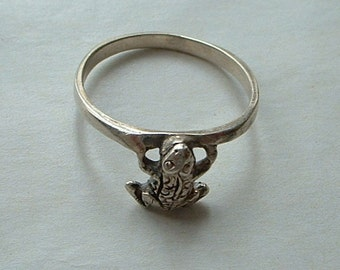 925 silver frog ring