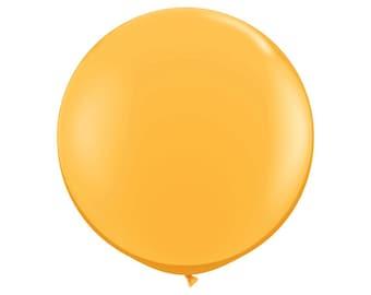 90cm GOLD BALLOON  - Round Jumbo Gold Balloon (90cm / 3 Feet)