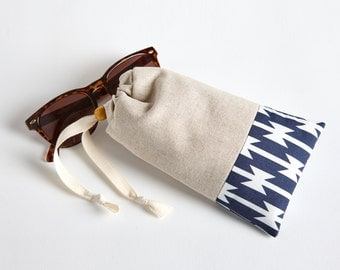 Padded Glasses Case with Cleaning Cloth in Tomahawks by Made on Main VT