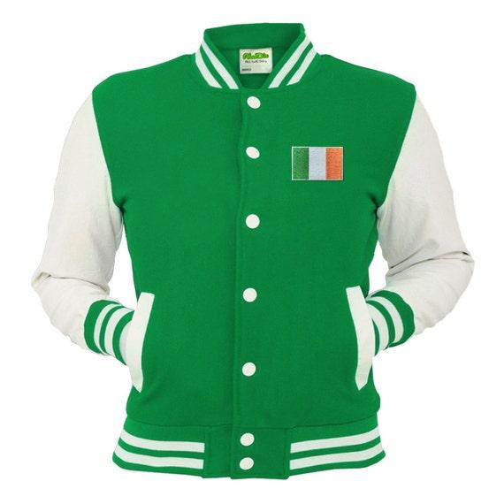 Ireland Varsity Jacket Irish Kelly Green Letterman By Spicetag