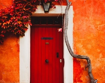 Roussilon, France Fine Art Photography Print French Red Door Ocher 8x12 11x17 SouthernFrance Large Canvas Wall Art Print Home Decor 20x30