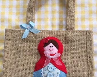 Russian Doll Jute bag