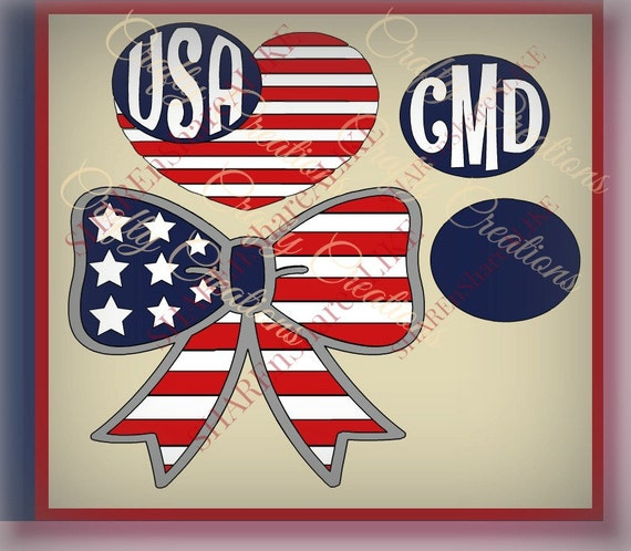 May The Fourth Be With You Svg: Items Similar To American Flag SVG July 4th Bow USA Heart