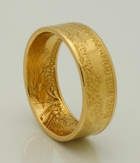 Gold Coin Ring 2016 Or 2017 Bullion 1 2 Ounce American Eagle