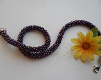 Rope beads crochet crochet chain necklace IRIS