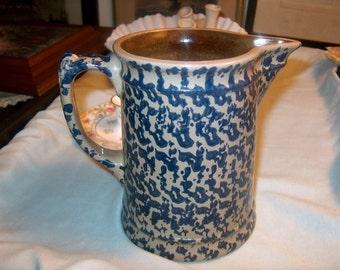 Vintage Pitcher Spongeware, Stoneware, BBP, 1995, WAS 25.00 - 50% = 12.50