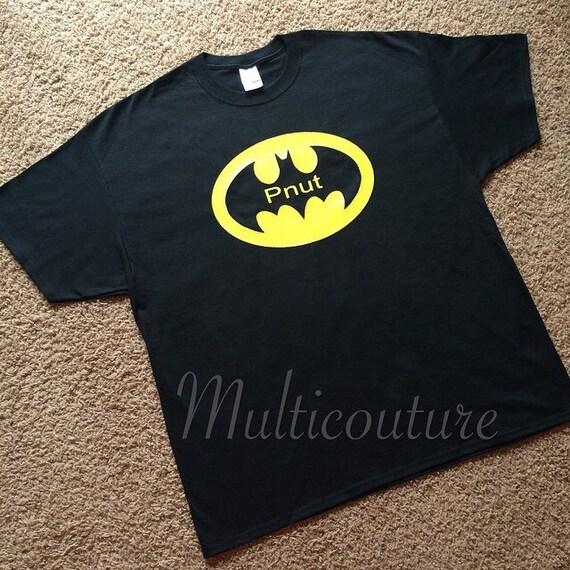 Adult T-Shirt: Batman shirt with name inside logo