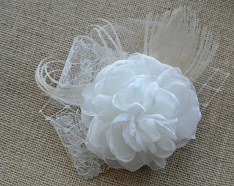 Ivory Champagne Hair Clip- Bridal hair clip- Wedding hair clip -Wedding Hair Flower- Bridal hair flower- Wedding Hairpiece - FLORENCE