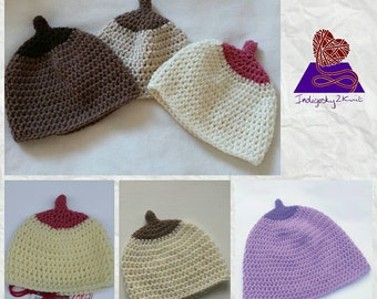 Boob Beanie ** Made to Order** baby hat, breastfeeding novelty hat, lactivist, toddler sizes available too