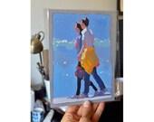 Young Couple - original gouache figure painting - FREE SHIPPING WORLDWIDE