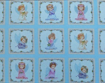 "Angels cotton panel -- approximately 23"" x 44"""