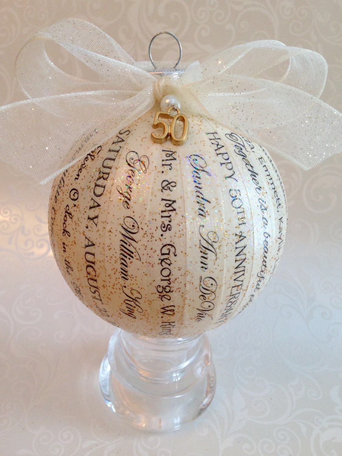 50th Anniversary Gift For Parents Friends Personalized