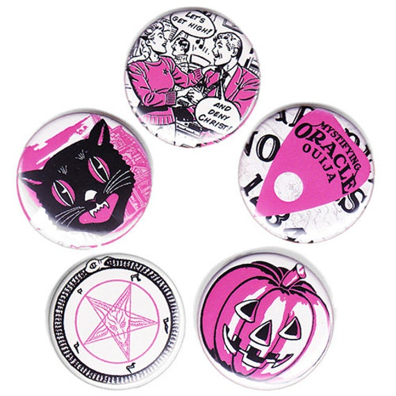 SPOOKY KIDS medium pin set  (38mm)