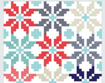 Thimble Blossoms Norway quilt pattern- Camille Roskelley Scandinavian quilt pattern