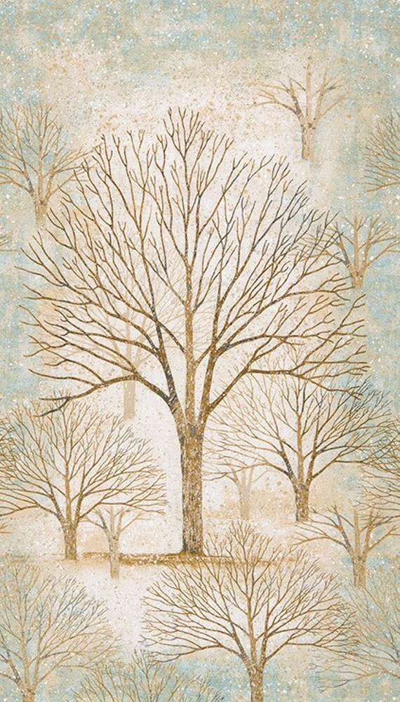 Robert Kaufman Sound Of The Woods 2 Tree Panel By