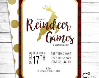 Reindeer Games Party Invitation