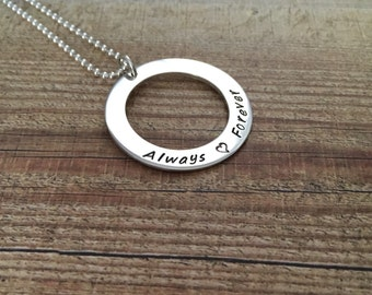 Astrid Sterling silver necklace | Personalised | Handstamped
