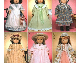 McCall's Sewing Pattern 3627 Doll Clothes  Size:  for 18 inch Dolls  Used
