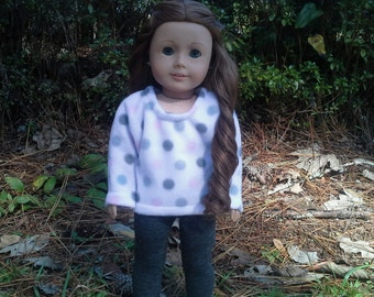 american girl doll pink and grey sweater