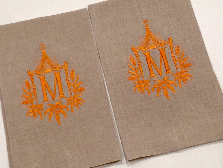 Decorative Hand Towels For Powder Room Monogram Tea Towel Etsy