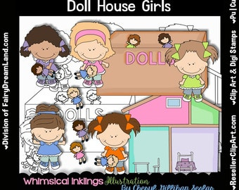 Doll house clip art – Etsy UK