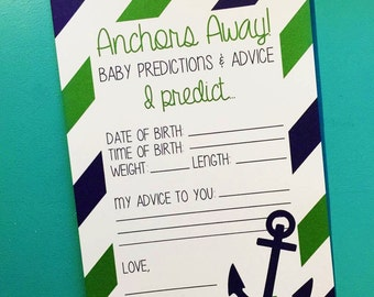 Nautical Baby Shower Activity Cards