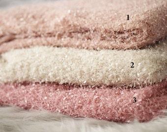 Fur Texture Baby Posing Fabric Blanket Rug Newborn Backdrop Photo Prop