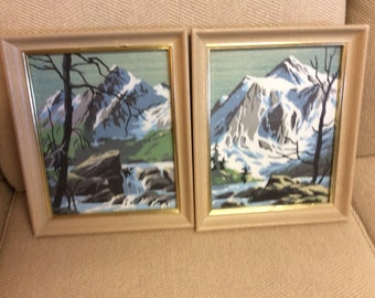 Scenery Paint by Number Paintings/Pair with frames