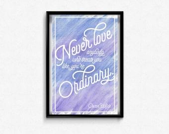 Oscar Wilde Print