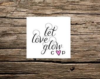 Glow Stick Tags, Wedding Glow Stick Tags 50 pieces, Let Love Glow Favor Tags, Wedding Favors Let Love Glow, Wedding Favors