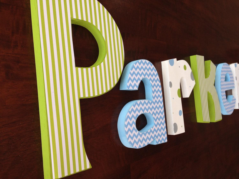 Nursery decor hanging nursery letters nursery letters baby for Baby nursery letters