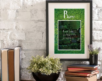 April Secret Freedom A Year of Rumi Inspirational Quote Artwork Print Poster