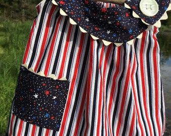4th of July Stars and Stripes Infant Dress