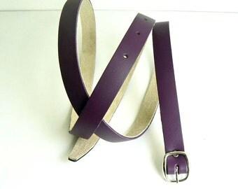 Skinny leather belts