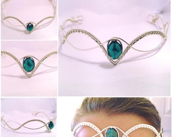 wire work elven circlet, bridal Elven circlet, elven tiara, Adult Crown, wire crown, bridal circlet, bridal crown, bridal headpiece
