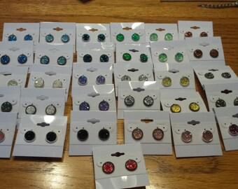 Resin Druzy Earrings-Nickel Free