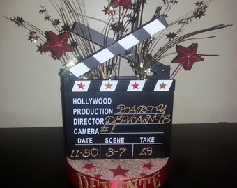 Hollywood Themed Party Table Centerpieces