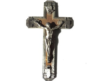 French Vintage Crucifix/French Vintage Art Deco Crucifix/French Vintage Small Wall Crucifix