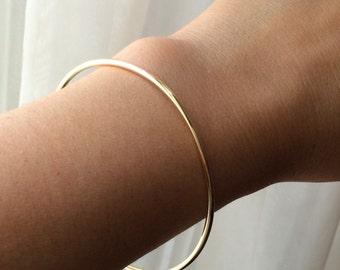 14k Solid gold bangle | bangle bracelet | gold bracelet