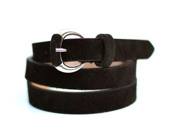 Free shipping! Black belt, Black leather belt, black woman belt, suede belt, black suede belt, woman leather belt, dress belt, waist belt