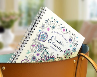 Personalised Creative Colouring Book including a Special Message - Travel Edition