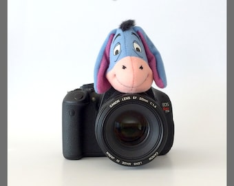 Camera Lens Covers, Photography Accessories, Photographer Gifts, Children/Baby Photo Props, Eeyore, Photo Friend
