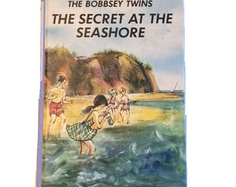 Vintage Book The Bobbsey Twins Secret at the Seashore by Laura Lee Hope 1962 Hard Cover Retro Children's Book