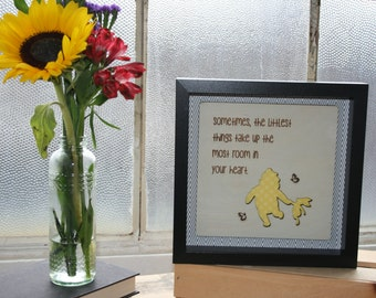 Sometimes the Littlest Things Take up The Most Room in Your Heart-Framed Wooden Wall Art