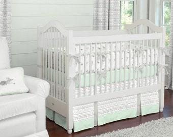 Neutral Crib Bedding Girl Baby Crib Bedding By CarouselDesignsShop