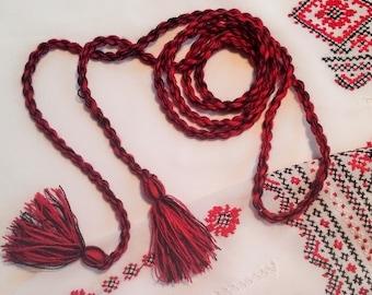 BOHO BELT Tassel belt Hippie belt Twisted Cord with Two Tassels  Boho style Gift from Ukraine!