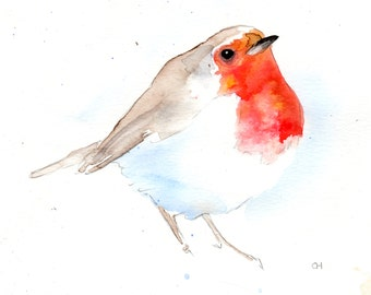 Robin, Nov 2015. Signed and mounted archival print of my own watercolour.