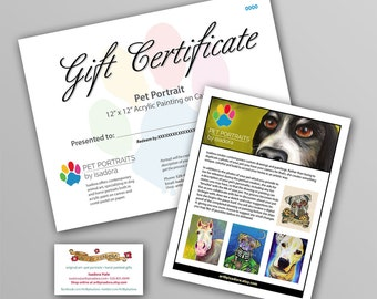 Pet Portrait Gift Certificate Add-On